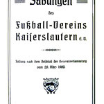 Deckblatt der Satzung von 1909