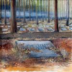 Halbe (Triptychon) Mitte, 2010, Öl auf Leinwand, 60x60cm