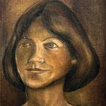 Christine, 1979, Mischtechnik auf Hartfaser, 40x30cm