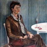Im Café, 1984, Öl auf Leinwand, 65x55cm