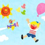 NHK Eテレ「えいごであそぼ」うたのコーナー「PEOPLE SAY」イラスト
