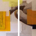Piano, sano, lontano… délicieusement, 2010, diptyque 75 x 185 cm, acrylique sur toile | vendu