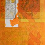 Shir, Technique mixte sur toile, 50 x 40 cm, 2016 | vendu