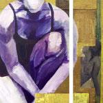 Là II, 2008, diptyque 55 x 55 cm, acrylique sur toile