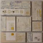 Saveur de la toile blanche 8, polyptyque 85 x 85 cm, 2018 | fr 2'500