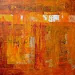 Saveur orange, acrylique sur papier, 38 x 38 cm, 2005  | fr 500