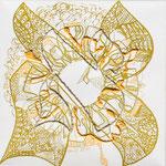 feutres, crayon et fils sur toile, 20 x 20 cm, 2020 | fr 424