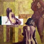 Là, 2008, 80 x 80 cm, acrylique sur toile