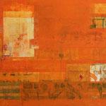 Shir Bereshit, Technique mixte sur toile, 68 x 165 cm, 2016