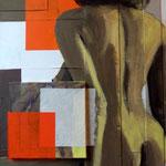 Là... bas II, 2010, 100 x 70 cm, acrylique sur toile