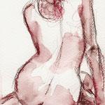 Nu, crayon aquarelle sur papier, 2010 | fr 450