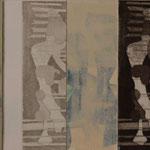 Technique mixte sur toile, 20 x 50 cm, 2014 | vendu