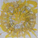 acrylique mixte et fils sur papier, 40 x 40 cm, 2020 | fr 830