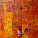 Saveur orange, acrylique sur papier, 38 x 38 cm, 2005 | vendu