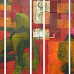 Pause, 2007, polyptyque 60 x 90 cm, acrylique sur toile