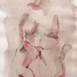 Elle de face, crayon aquarelle sur papier, 2000