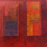 Carré rouge, acrylique sur toile, 30 x 30 cm, 2005