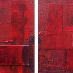 Ambiance rouge, 2007, diptyque 40 x 80 cm, acrylique sur toile