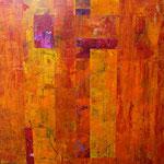 Saveur orange, acrylique sur papier, 38 x 38 cm, 2005