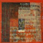 Shir Alef-Beith, Technique mixte sur toile, 65 x 65 cm, 2016