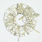 feutres, crayon et fils sur toile, 20 x 20 cm, 2020 | fr 440 *