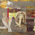 Monologue II, 2009, 37 x 43 cm, acrylique sur toile