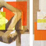 On verra, 2010, diptyque 80 x 130 cm, acrylique sur toile