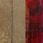 """Dialogues"" 11, 23 x 23 cm, 2018 | vendu"
