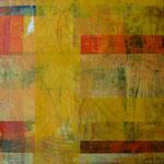 Carré jaune, acrylique sur toile, 30 x 30 cm, 2005