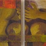 Instants de vie X, 2008, diptyque 30 x 60 cm, acrylique sur toile