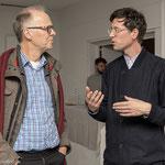 Dr. Michael Kröger und Künstler Martin Hesselmeier Foto: Angela von Brill