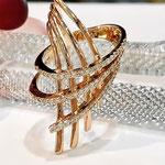 K18PGダイヤモンドリング D:0.65ct 重量:9.82g    長さ:3.8cm 現行サイズ:12番 ¥236,000(税込)