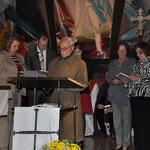 Dr. Gottfried Feger, ein sehr engagiertes Mitglied wünscht der neuen Nagelkreuzgemeinschaft alles Gute