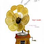 Zigeunerweisen 内田百閒の小説「サラサーテの盤」を鈴木清順が「ツィゴイネルワイゼン」という映画にしたもの。それを更に、映画音楽演奏会のB3ポスターにしてみました。