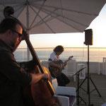 Concert au Grand hôtel de la plage - Biscarosse - Eddie Dhaini (Guitare) et Jonathan Hedeline (contrebasse)