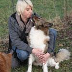 Alina mit Steffi Frauchen