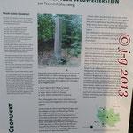 Info-Tafel des Geoparks