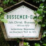 """Erinnerungsschild am ND """"Bussemer Eiche"""""""