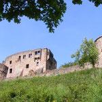 Blick auf die Ruine