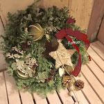 クリスマスリース フレッシュフラワー 常緑樹 生花