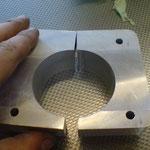 per drahtschneiden zweigeteilt (verschnitt: 0,25mm)
