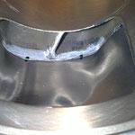 Übergang Gehäuse zu Zylinder prüfen