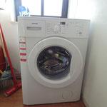 Waschmaschine im Abstellraum EG