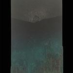 """""""ムクリコクリ"""" 41×27.3cm 木材、岩絵具、泥絵具、膠"""