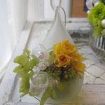 ご自宅にある花器を使って