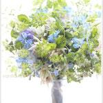 リクエストレッスン:ブルー系の花束