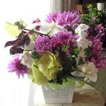 紫がお好きだった方へのお悔やみ花