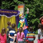 Zauberclown Ferdi im Saurierpark Kleinwelka