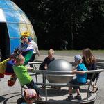 Clown Ferdi im Saurierpark Kleinwelka