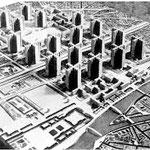 Nachbau des Plan voisin zur Ausstellung Le Corbusier im Vitra Design Museum, Weil am Rhein